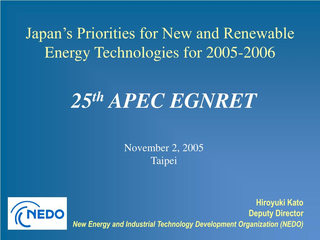 25 th apec egnret november 2 2005 taipei l.