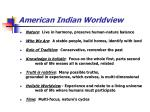 american indian worldview