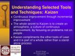 understanding selected tools and techniques kaizen