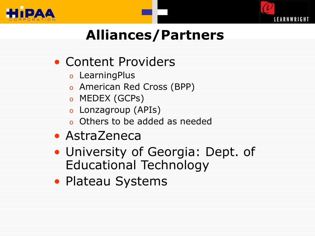 Alliances/Partners