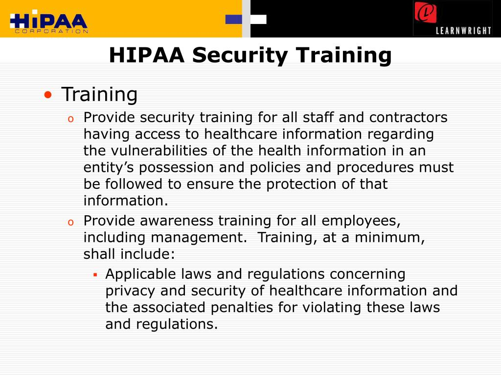 HIPAA Security Training