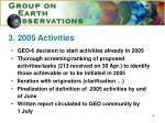 3 2005 activities