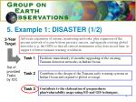5 example 1 disaster 1 2