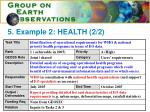 5 example 2 health 2 2