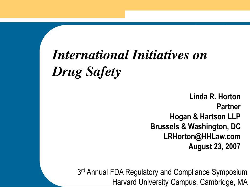 International Initiatives on