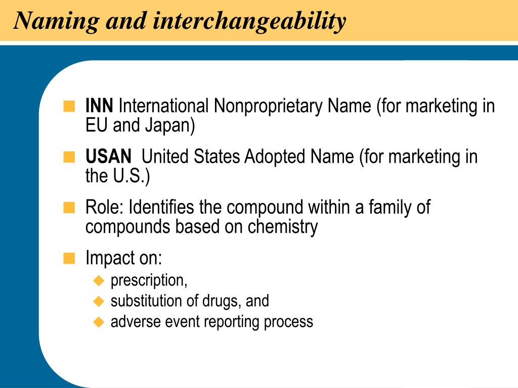 Naming and interchangeability