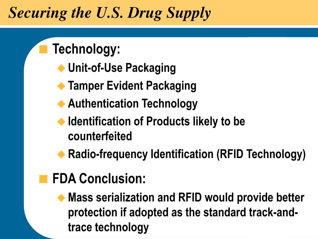 Securing the U.S. Drug Supply