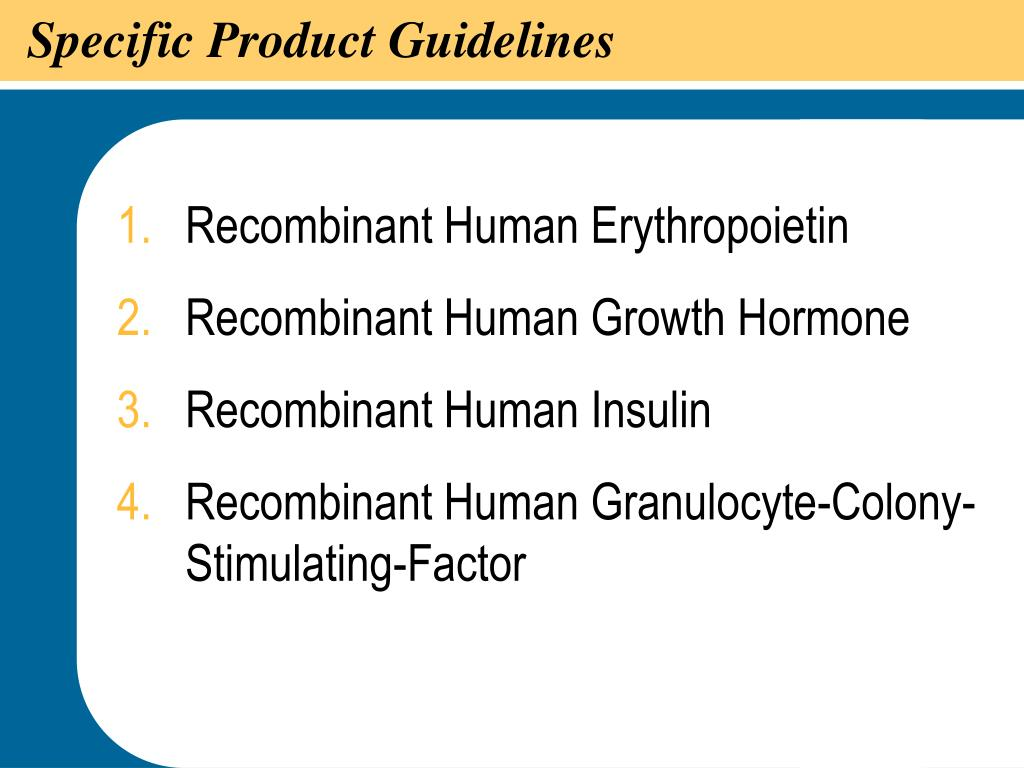 Specific Product Guidelines