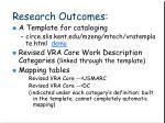research outcomes