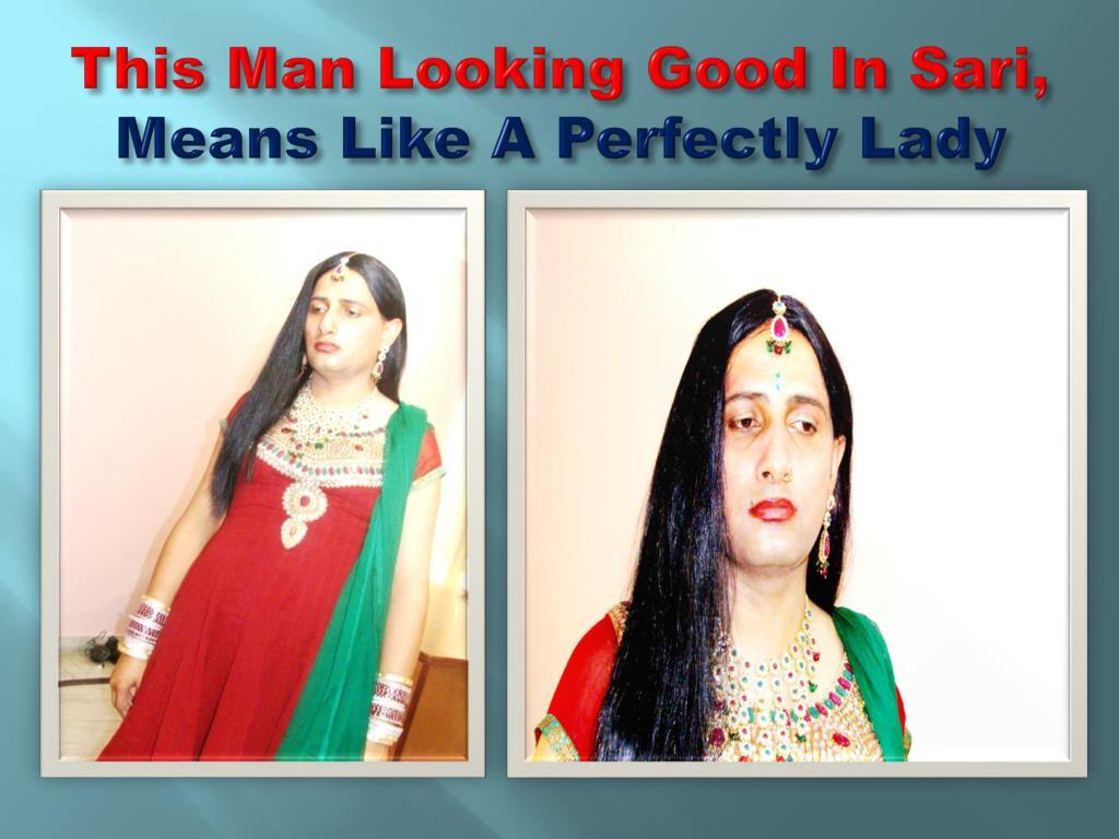 This Man Looking Good In Sari,