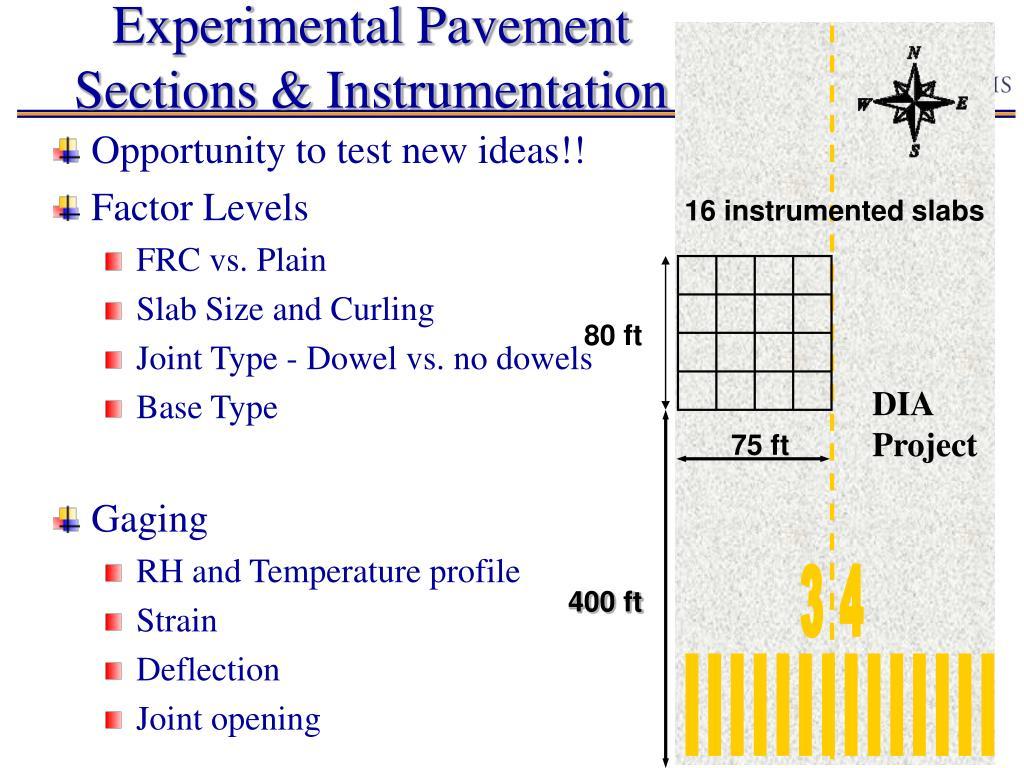 Experimental Pavement