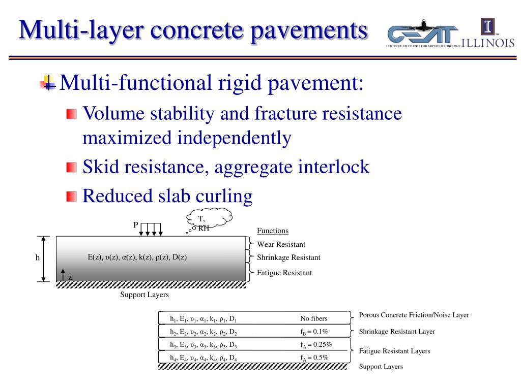 Multi-layer concrete pavements