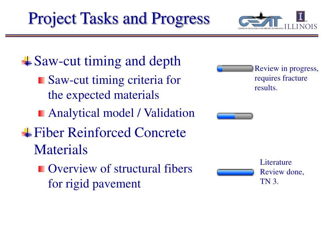 Project Tasks and Progress