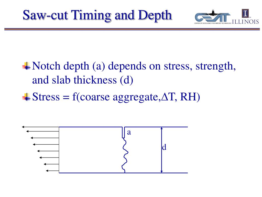Saw-cut Timing and Depth