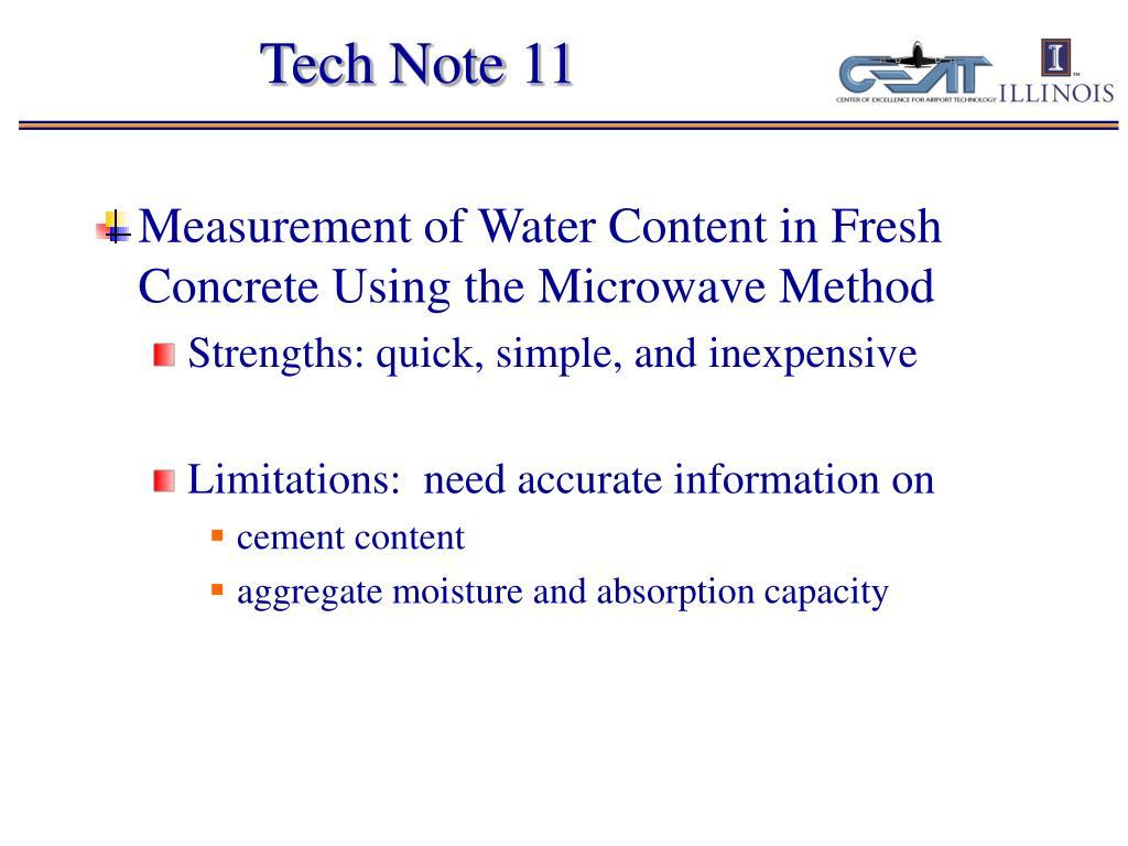 Tech Note 11