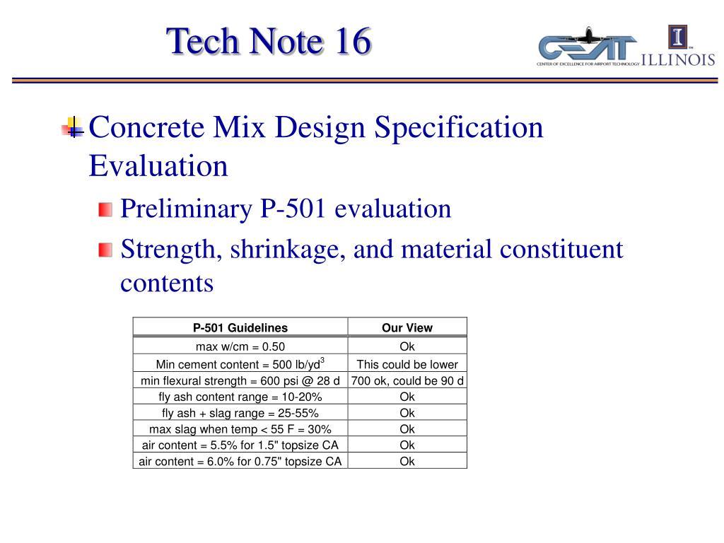 Tech Note 16