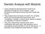 genetic analysis with mutants