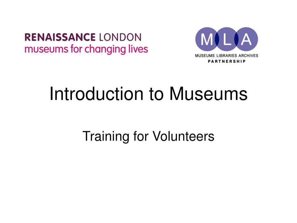 introduction to museums l.