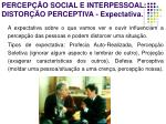 percep o social e interpessoal distor o perceptiva expectativa