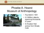 phoebe a hearst museum of anthropology