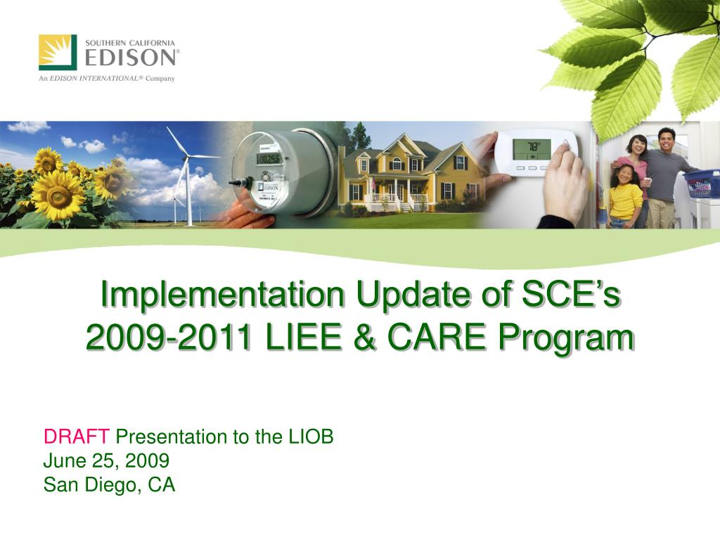 implementation update of sce s 2009 2011 liee care program l.