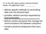 13 in the osi open system interconnection model the application layer