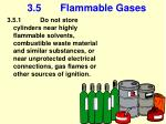 3 5 flammable gases