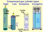 compressed gas cylinder types high low acetylene cryogenic