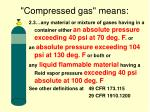 compressed gas means
