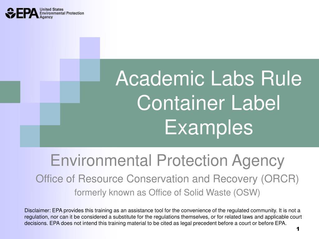 Academic Labs Rule