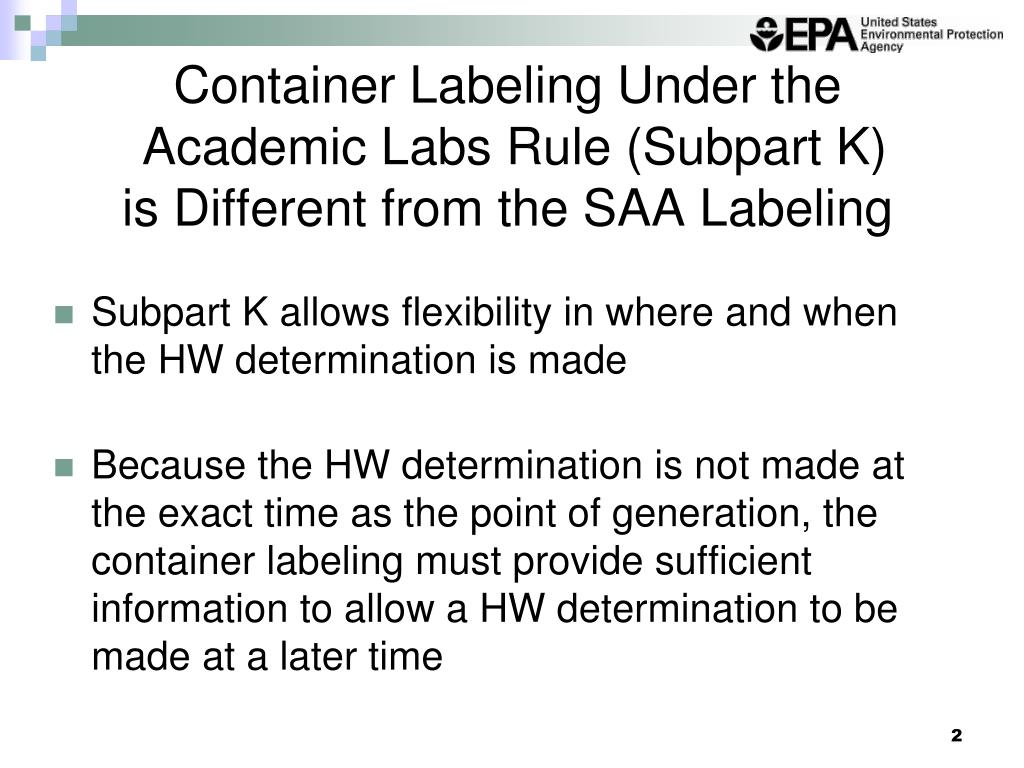 Container Labeling Under the