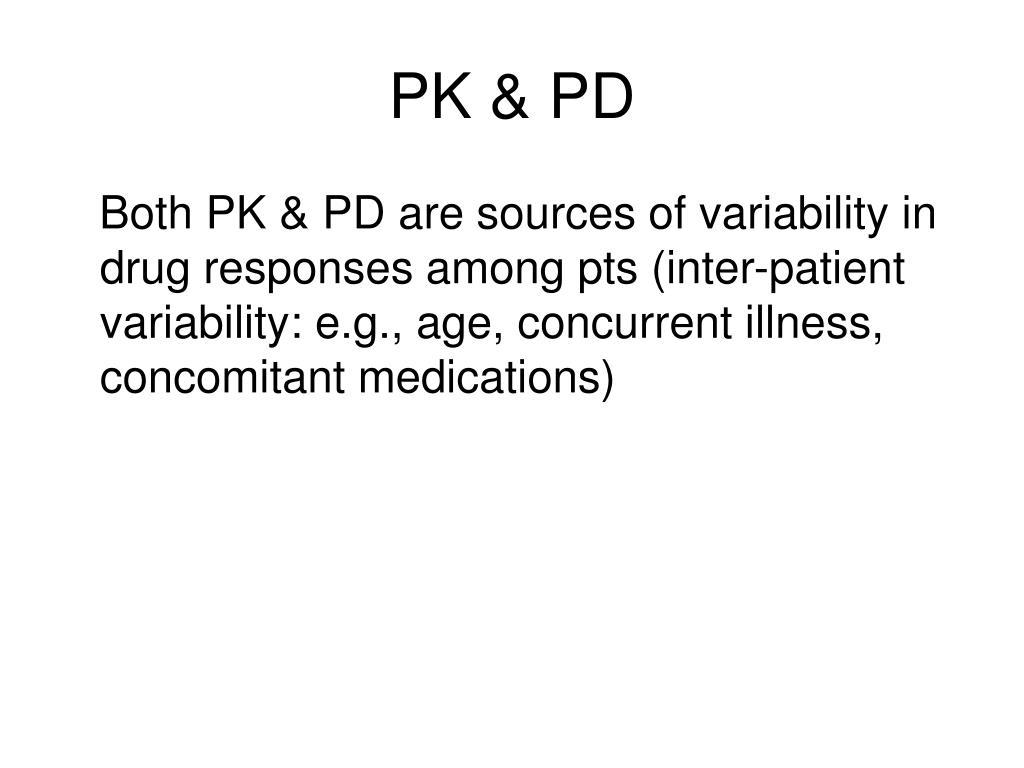PK & PD
