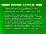 fabric source comparisons
