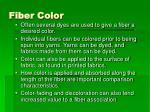 fiber color