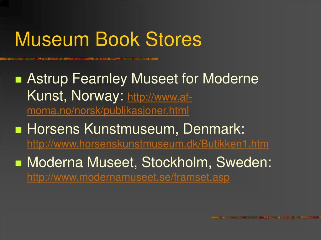 Museum Book Stores
