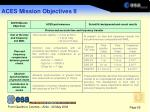 aces mission objectives ii