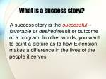 what is a success story