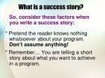 what is a success story5