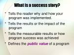 what is a success story6