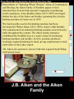 j b aiken and the aiken family