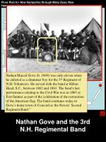 nathan gove and the 3rd n h regimental band