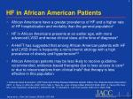hf in african american patients