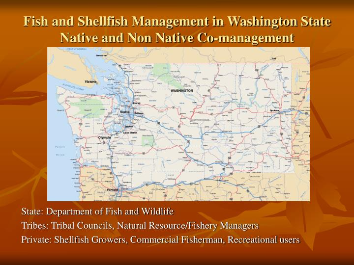 Fish and shellfish management in washington state native and non native co management