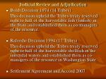 judicial review and adjudication