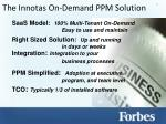 the innotas on demand ppm solution