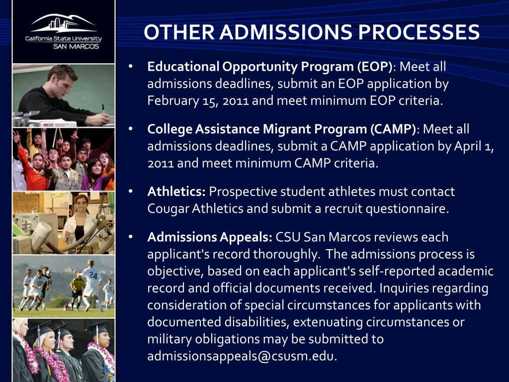 Other admissions processes