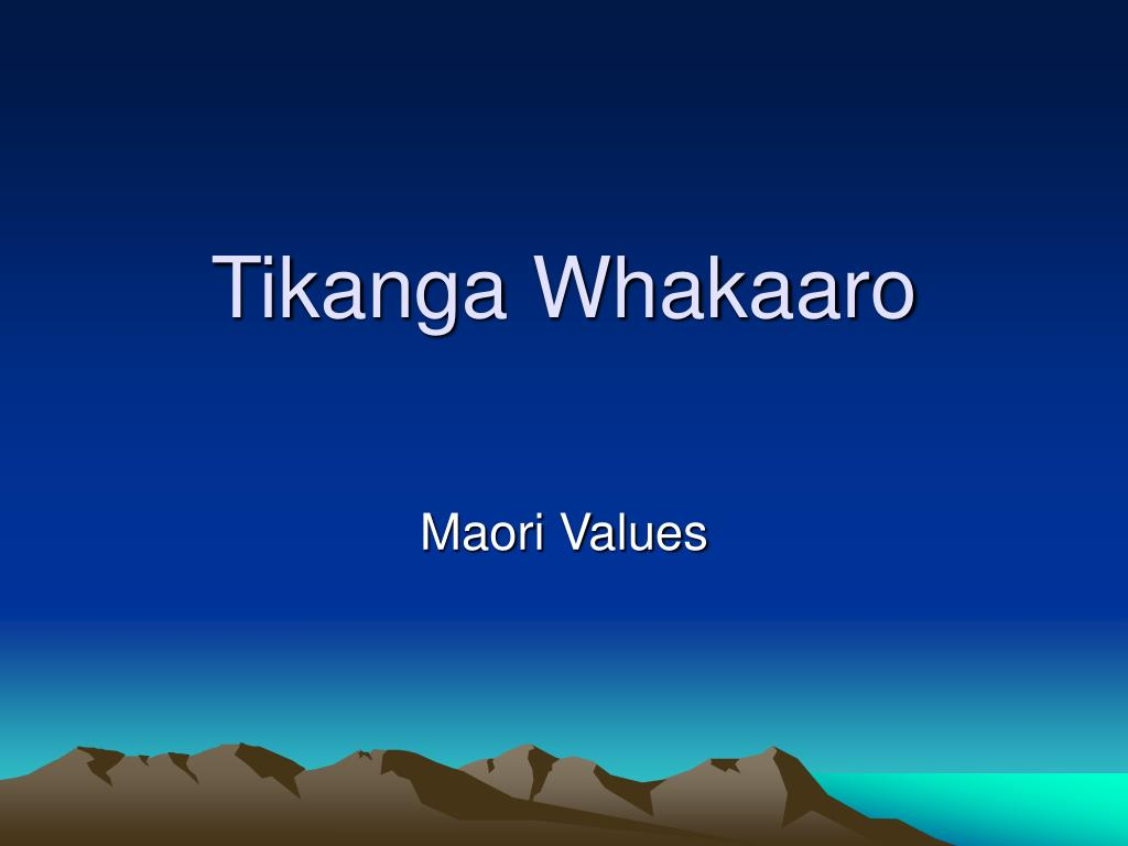 tikanga whakaaro l.