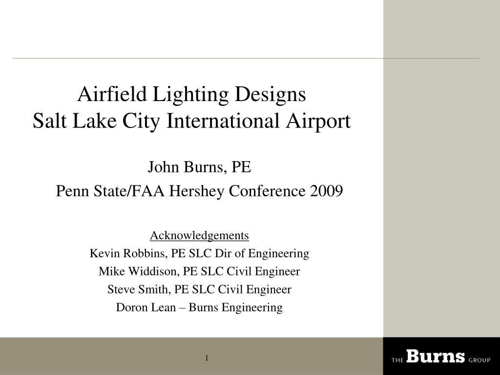airfield lighting designs salt lake city international airport l.