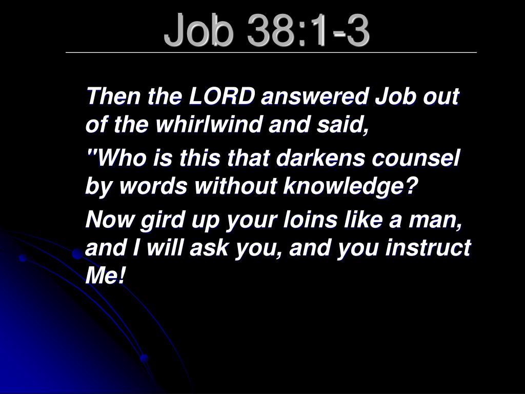 Job 38:1-3