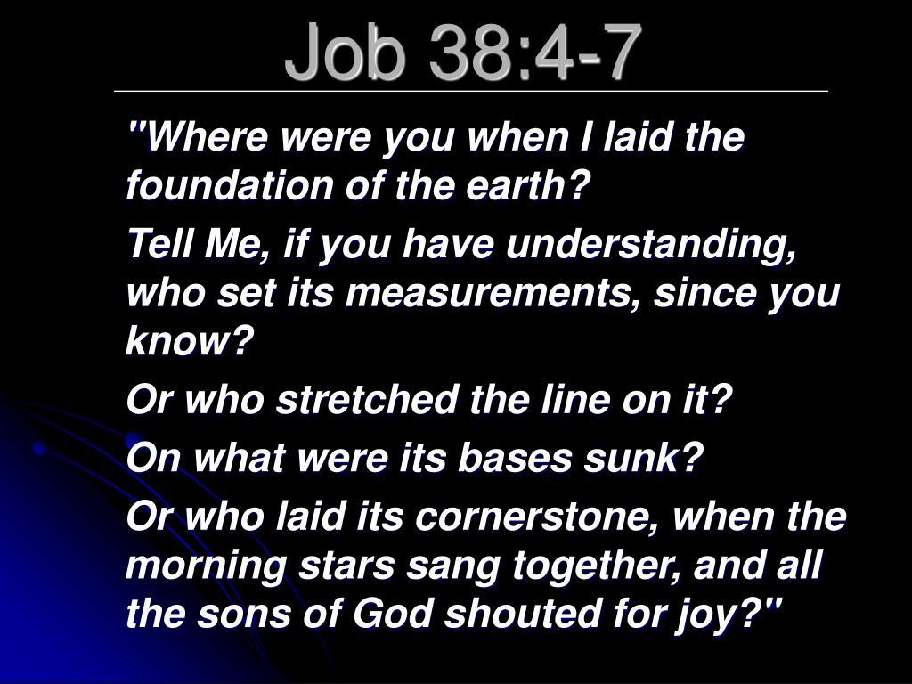 Job 38:4-7